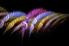 Coloured Wool (in a digital world). Part of a series of fractal art Stock Photography