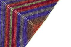 Coloured woolen shawl Royalty Free Stock Photo