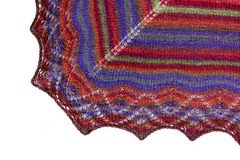 Coloured woolen shawl Royalty Free Stock Photography