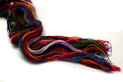 Coloured Yarn. On a white background Royalty Free Stock Images