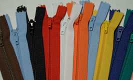 Coloured zipper Stock Image