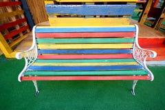 Colourful ławka Zdjęcie Royalty Free