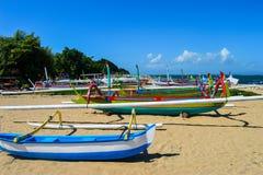 Colourful łodzie zdjęcie royalty free