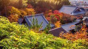 Colourful świątynia dach w Kyoto i, Japonia Fotografia Royalty Free
