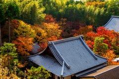 Colourful świątynia dach w Kyoto i, Japonia Zdjęcia Royalty Free