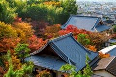 Colourful świątynia dach w Kyoto i, Japonia Obraz Stock