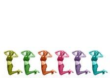 Colourful 3D women Stock Photo