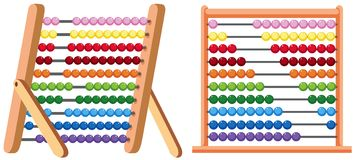 A Colourful Abacus on White Background. Illustration stock illustration