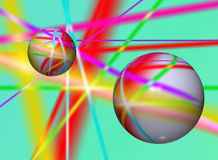 Colourful abstract background. With with lines and 3d balls Royalty Free Stock Images