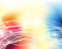 Colourful Abstract Background. An illustration of a colourful abstract wavy background Stock Photos