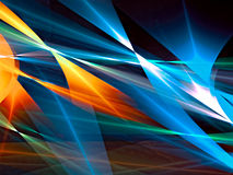 Colourful abstract background - digitally generated image. Color geometric abstract background - computer-generated image. Fractal art: bright colored lines royalty free illustration