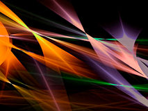 Colourful abstract background - digitally generated image. Dark geometric abstract background - computer-generated image. Fractal art: bright colored lines Stock Images