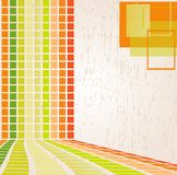 Colourful abstract background with squares Royalty Free Stock Photos