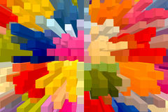 The colourful abstract block picture Stock Photo