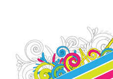 Colourful abstract design Royalty Free Stock Image