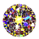 Colourful abstract diamond top view Royalty Free Stock Images