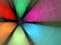 Colourful abstract fan Royalty Free Stock Images