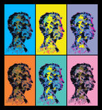 Colourful abstract human head silhouettes. Stock Image