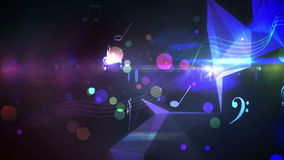 Colourful abstract music design on black. Digital animation of Colourful abstract music design on black vector illustration