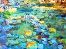 Colourful Abstract Oil Painting royalty free stock photos