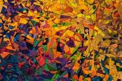 colourful abstract Painting Stock Image
