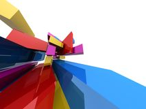 Colourful abstract square block background Royalty Free Stock Photo