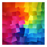 Colourful Abstract Squares. Colourful Abstract Square Vector Background, also looks like colourful stickies vector illustration