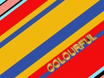 Abstract striped background colourful. Colourful abstract striped background with 3D colourful type Royalty Free Stock Photo