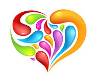 Colourful abstrak icon of heart Stock Image