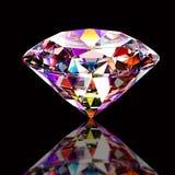 Colourful abstrakcjonistyczny diament royalty ilustracja