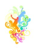 Colourful Active People royalty free illustration