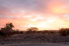 Colourful African Sunset stock image