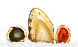 Colourful agates Royalty Free Stock Images