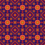 Colourful Ajrak Pattern. Sindhi Colourful Ajrak Vector Pattern Stock Images