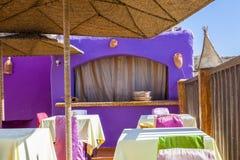 Colourful al fresco restaurant Stock Images