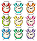 Colourful alarm clock Royalty Free Stock Photos