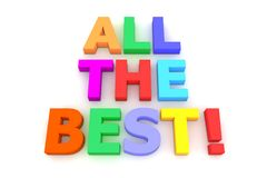 Colourful All The Best! Royalty Free Stock Photo
