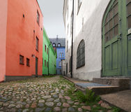Colourful alley Royalty Free Stock Image