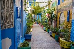 Free Colourful Alleys Of Tangier Medina Stock Photo - 138731760