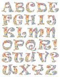 A colourful alphabet Stock Image