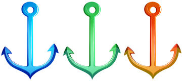 Colourful anchors Royalty Free Stock Photo
