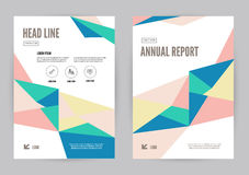 Colourful annual report Leaflet Brochure Flyer template A4 size design. Book cover layout design, Abstract presentation templates. flat geometric vector Royalty Free Stock Images