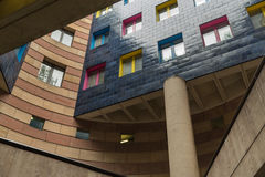 Colourful apartment block in the City of London Stock Photography