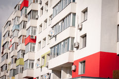 Colourful apartment block Stock Photos