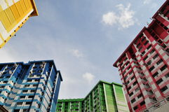 Colourful apartment blocks. Colourful high rise apartment blocks Royalty Free Stock Image