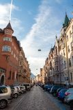 Colourful apartment blocks in Bolzano Royalty Free Stock Photos