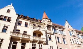 Bolzano Bozen, Italy. Colourful apartment blocks in Bolzano Bozen, Italy stock photo