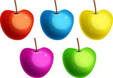 Colourful Apples Royalty Free Stock Photo