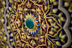 Colourful Arab fabric. Beautiful Arab fabric of a carpet Stock Photo