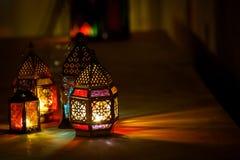 Colourful Arabic Ramadan Lantern stock photos